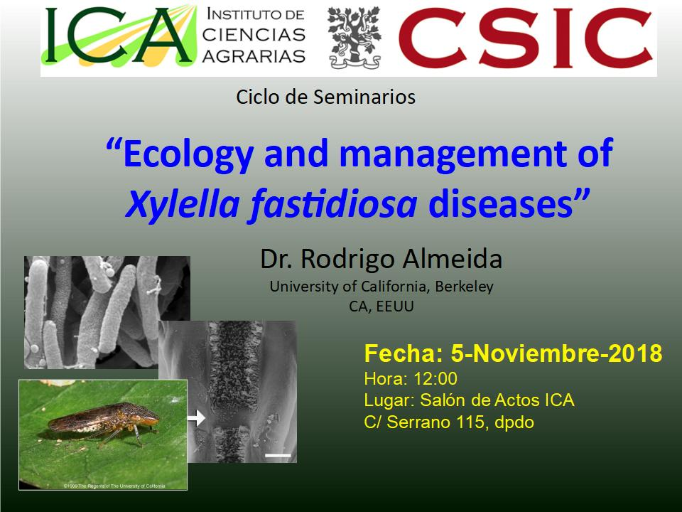 Ecology and management of Xylella fastidiosa diseases